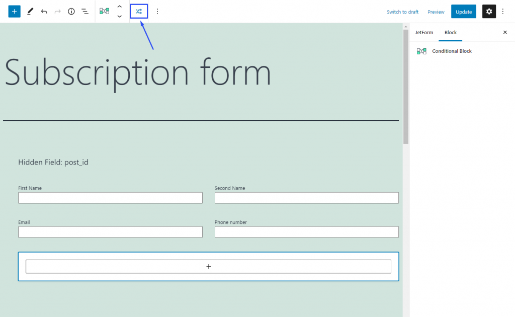 calculated checkbox form look on the frontend