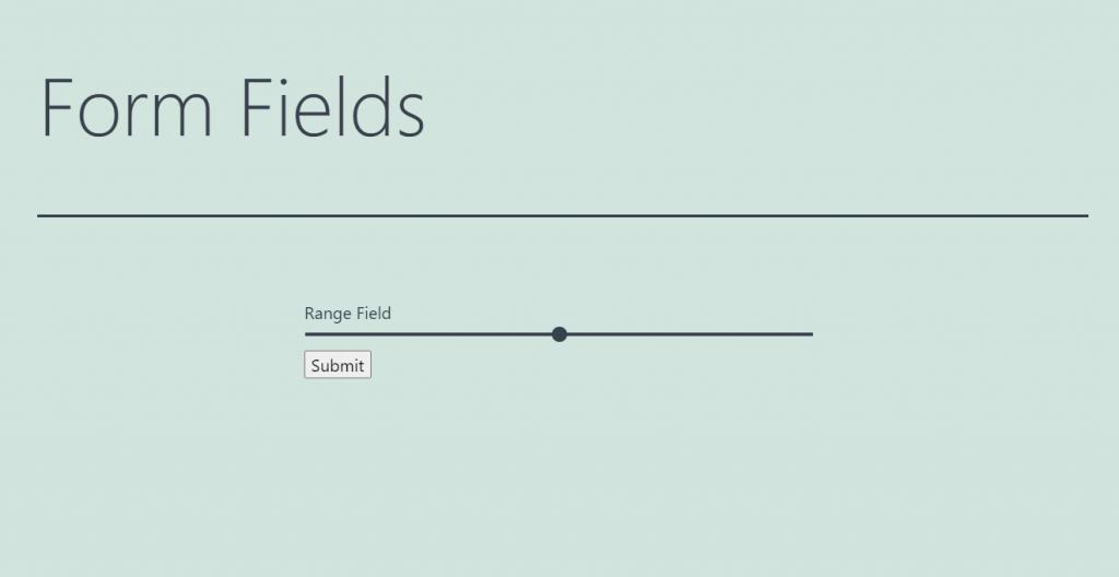 range form field appearance
