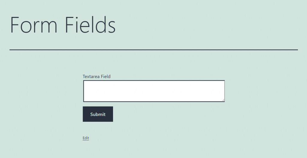 textarea form field overview