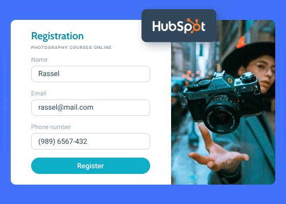 hubspot registration form