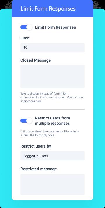 limit form responses options