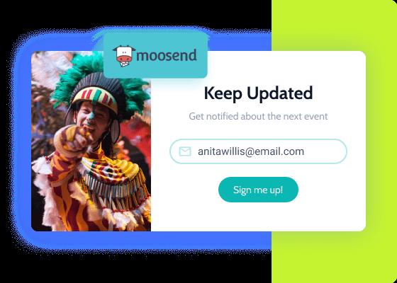 moosend notification form