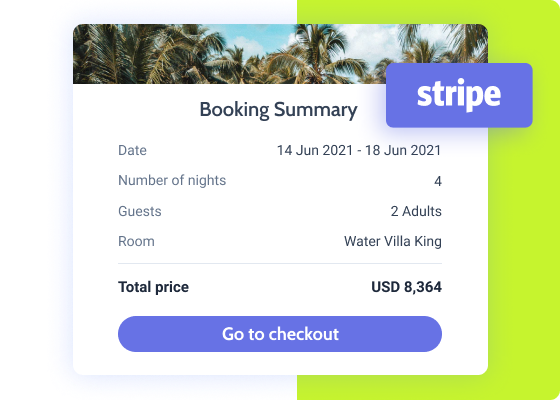 booking form with stripe