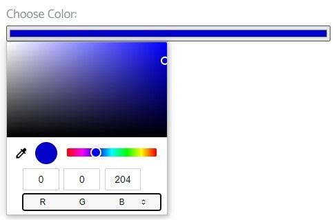 color picker field