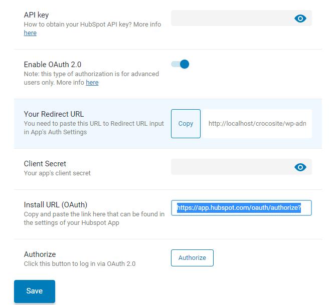 adding install URL to jetformbuilder hubspot addon