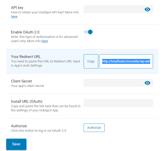 adding redirect URL to jetformbuilder hubspot addon