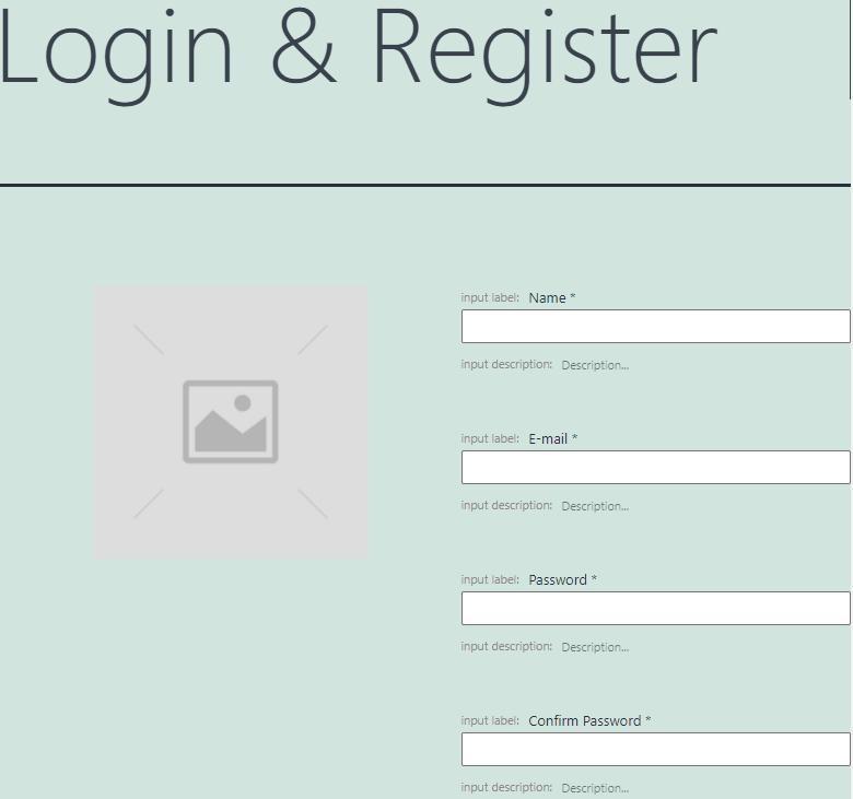 login&register form pattern
