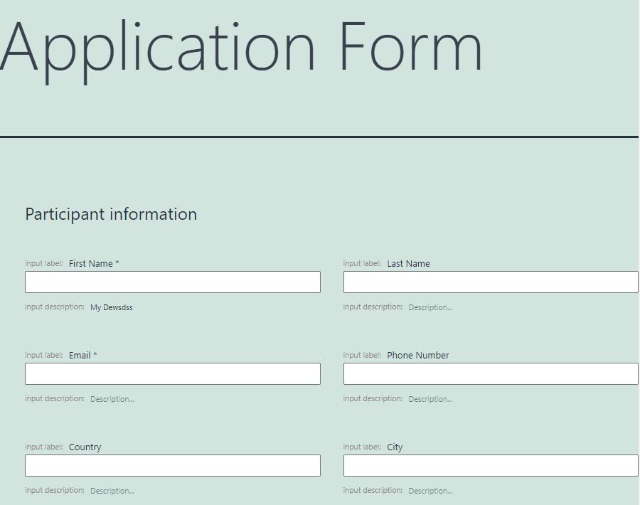 application form pattern