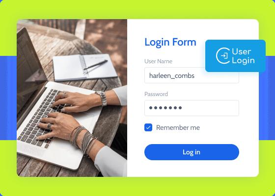 user login addon login form